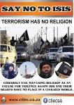 SAY NO TO ISIS - TERORIS HAS NO RELIGION
